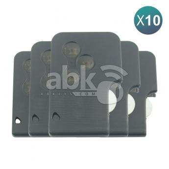 ABK-2297-OFF10  Renault Megane2, Scenic 2002+ Smart Key Card 10Pcs Offer, 3Buttons PCF7947, 433MHz 7701209132  ABKEYS