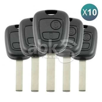 ABK-246-OFF10  Peugeot 307 2001+ Key Head Remote 10Pcs Offer, 2Buttons PCF7961 433MHz HU83 6554RC  ABKEYS