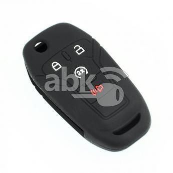 ABK-2500-FORD-FLIP-MID4B  Ford Silicone Remote Covers, 4Buttons  ABKEYS