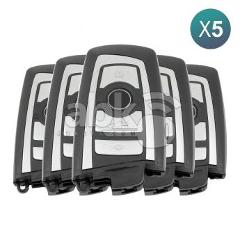 ABK-4144-OFF5  Bmw F Series CAS4 2009+ Smart Key 5Pcs Offer, 4Buttons HUF5767 HITAG PRO PCF7945P, 434MHz  ABKEYS