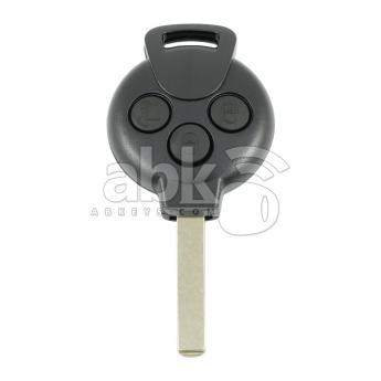 ABK-4266  Smart ForTwo ForFour 2008+ Key Head Remote, 3Buttons PCF7941, 433MHz, VA2 A4518203497 A 451 820 34 97  ABKEYS